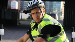 Kevin Bishop stars as a vigilante bike cop